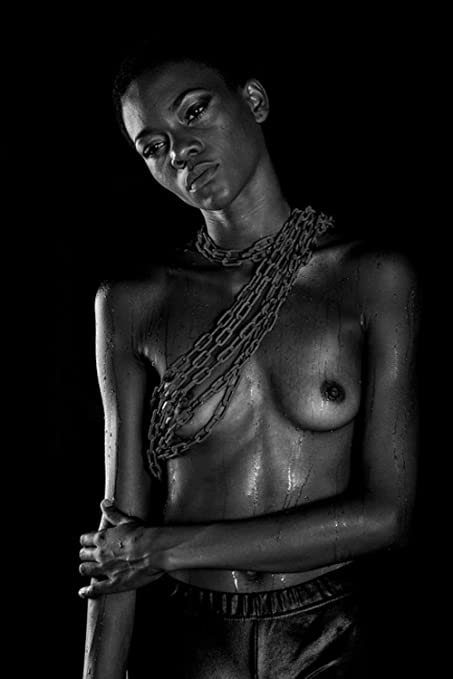 Black modell foto shooting nude