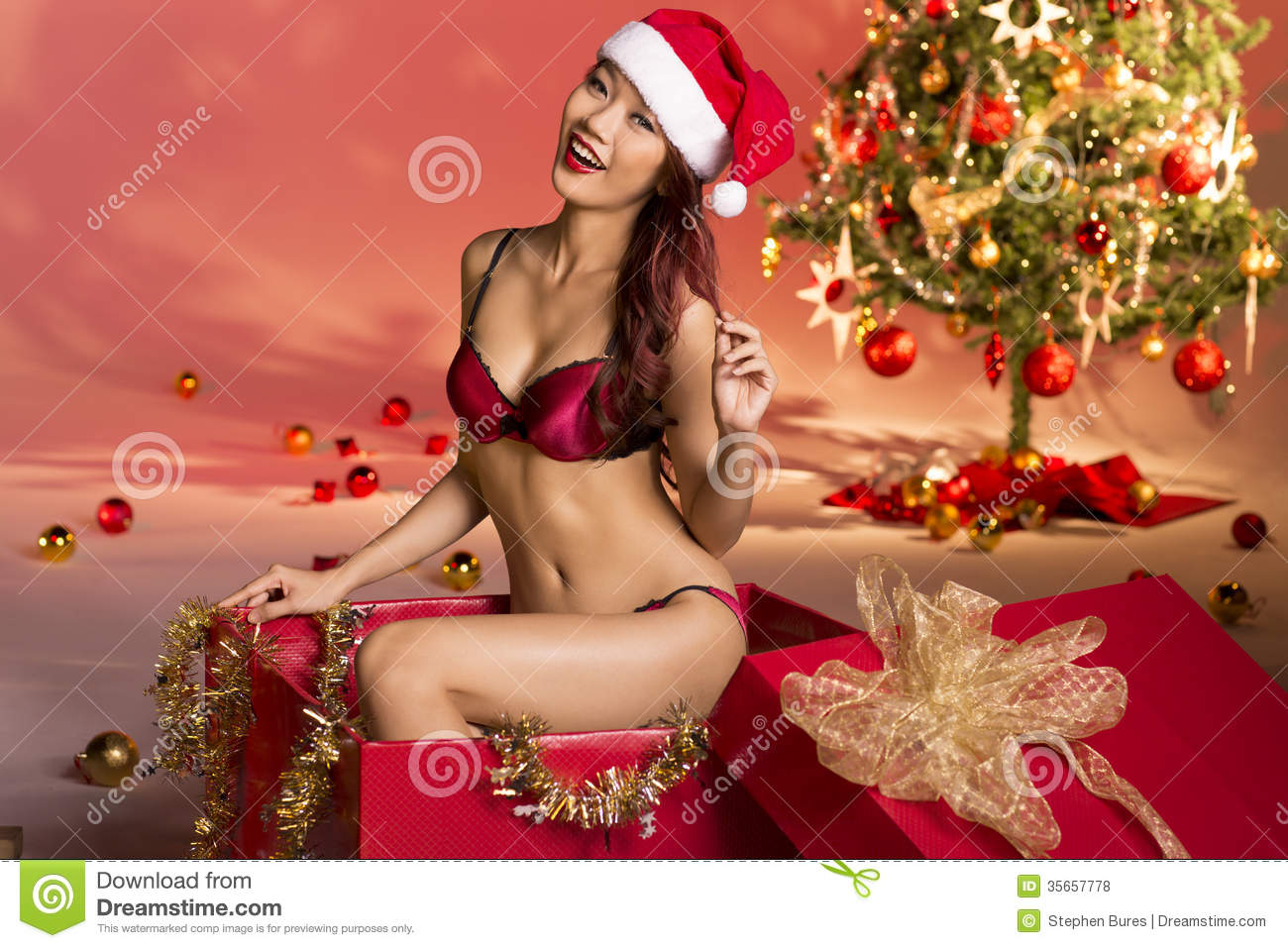 Girls weihnachts outfits asian sexy