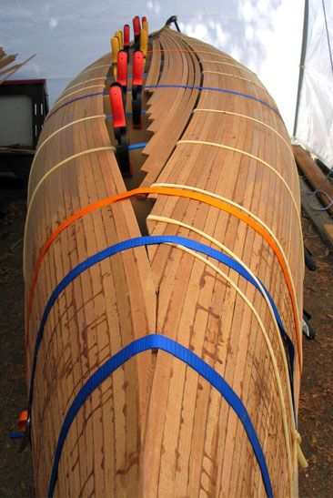 Free plan canoe strip cedar